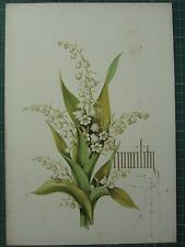 1848 PRINT LILIES OF THE VALLEY - HUMILITY - FLOWERS AND THEIR KINDRED THOUGHTS