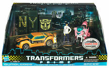 TRANSFORMERS PRIME FIRST EDITION 2011 NYCC EXCLUSIVE BUMBLEBEE AND ARCEE MISB