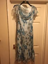 CC Silk Dress size 14 Evening Cruise Wedding Occasion Beaded Country Casuals