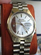 GREAT VINTAGE BULOVA ACCUTRON ACCUQUARTZ DIAMOND WATCH AUTOMATIC N2 1972 FOR MEN