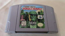 +++ ARMY MEN SARGE'S HEROES Nintendo 64 N64 Game Cart - TESTED!! +++