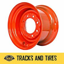 4 NEW 16.5x8.25 Skid Steer Loader Rims for 10x16.5 Tires Bobcat Orange Wheels