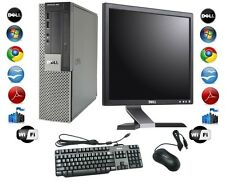"Cheap Desktop PC Computer Set Dell Windows 7 Pro, 17"" TFT Monitor  + FREE P&P"
