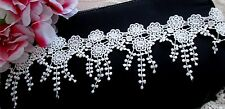 Beautiful White Flower Venise Lace Trim - price for 1 yard