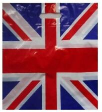 100 Union Jack Plastic Patch Handle Carrier Bags Gift Pack + FREE P&P