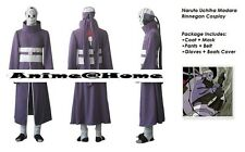 Top Quality Naruto Anime Madara Uchiha Rinnegan Cosplay Costume S-XXXL