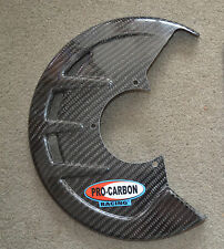 PRO CARBON Fibre Front Disc Brake REPLACEMENT Guard Fits To Acerbis Fitting Kit