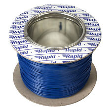 Model Railway Layout Lighting, DCC Chip etc Wire 100m Roll 10/0.1mm 0.5A Blue