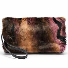 NEW! Juicy Couture Faux Fur & Leather Clutch Bag - Unique and Gorgeous! NWT