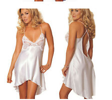 Women Lingerie Lace Dress Underwear Babydoll Sleepwear Robe G-string Nightwear