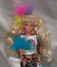 1990s 1992 Troll Barbie Doll Blonde w/Complete Wild Outfit & Mini Troll Necklace
