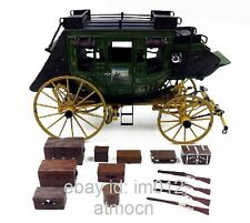 John Wayne Overland Stagecoach new in box diecast green 1:16 Franklin Mint model