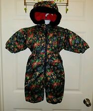 Hummelsheim Germany Toddler Girls Hooded Winter Snowsuit EUR 86 US 18-24 Months
