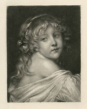"Ernst Carl Forberg / Jean-Baptiste Greuze etching ""Head of a Child"""
