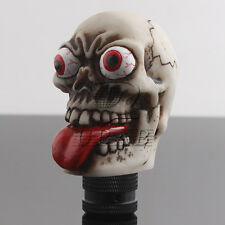 Car Red Tongue Skull Manual Gear Stick Shift Shifter Lever Knob Resin Universal