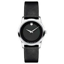 Movado Museum Classic 0606503 Black/Black Leather Analog Swiss Quartz Women's W