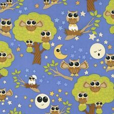 "RJR Dan Morris Kitschy Kawaii Blue 100% cotton 44"" fabric by the yard"