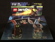 NEW Lego Dimensions Wizard of Oz Fun Pack Wicked Witch & Winged Monkey Lot 71221