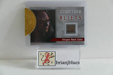 RITTENHOUSE  STAR TREK ALIENS 2014 R1 RELIC CARD Klingon Neck Collar 71/80