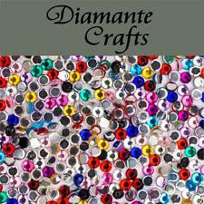 1000 2mm Mixed Colour Diamante Loose Flat Back Rhinestone Nail Body Art Vajazzle