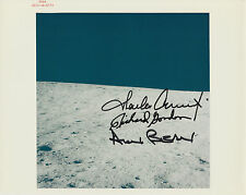 Apollo 12 Crew Signed NASA Lunar Surface Photo with red serial number. Space
