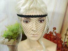 Augenmaske aus Netz Spitze Lace Mask Gothic Burlesque Karneval Kostüm