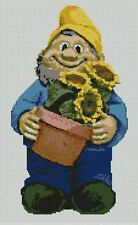 "Garden Gnome Counted Cross Stitch Kit 8.5"" x 13.75"" 21.5cm x 35cm P2350"