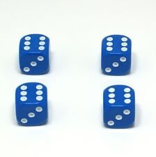 Set of  Four Blue Dice Dust Caps X4 - 80's Retro Valve Caps - BMX VW