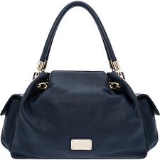 "OROTON ""VENICE"" GATHER TOTE LEATHER BAG in Midnight Blue RRP$595"