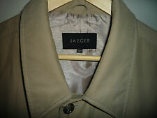 Jaeger Mac 46 inch chest 56R long button raincoat coat menswear waterproof label