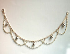 Handmade Chain & Jingle Bells Silver Plated Funky Anklet
