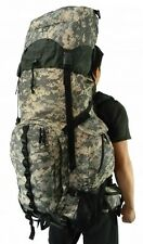Expandable 130L Deluxe Camo Hiking Backpack Sport Camping Removable Waist Pack