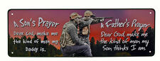 """10.5"""" x 3.5"""" Tin Metal Sign Wall A Sons Fathers Prayer Make Me The Kind Of Man"""