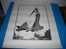 """Aubrey Beardsley Poster Rose of Lima 1960s 22"""" x 30"""" by blow-up inc."""