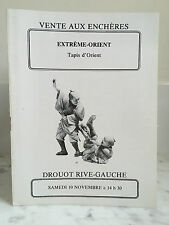 Catalogue de vente Extrême-Orient Tapis d'Orient n°10  10 Novembre 1979
