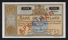 SCOTLAND P-99b. (1955) Bank of Scotland - Five Pound - SPECIMEN. No Serials UNC