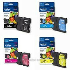New Genuine Brother LC-61 Magenta Yellow Cyan Black LC-61M LC-61C LC-61Y LC-61BK