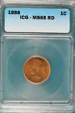1888 Icg Ms65 Red Indian Head Cent! #B3322