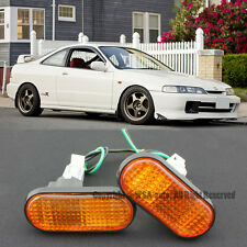 94-01 Acura Integra Amber Flat Side Marker Lights Replacement Fender JDM Type R
