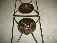 Vintage Folding Wire Book CD Record Rack Bookends Library Books American Eagle
