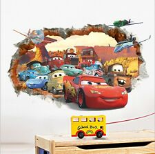 Disney Cars McQueen Racing Cars Mural Wall Sticker Decals for Kids Room Decor