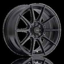 17X8 Advanti Racing Storm S1 4X100 +45 Matte Black Wheels (Set of 4)