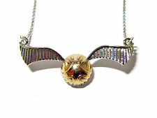 HARRY POTTER GOLDEN SNITCH PENDANT NECKLACE QUIDDITCH BEST QUALITY AND DETAIL!!