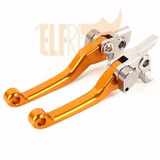 Hot Orange CNC Clutch Brake Levers For KTM 400EXC 2009-2011 Pivot Dirt Bike