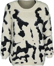 Womens Jumper Feather Soft Touch Crew Neck Top One Size Fit For 12 14 16