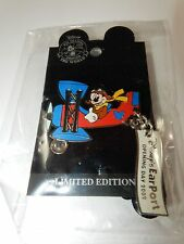 Disney EarPort Opening Day 2002 Dangle Mickey Mouse in Plane Pin NEW