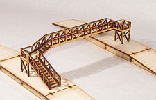 FB002 Platform Footbridge Triple Track Span OO Gauge Model Laser Cut Kit
