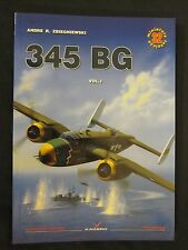 Kagero Book: 345 Bomb Group -  USAAF B-25 Mitchell - Color Profiles