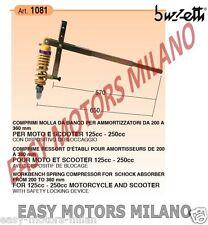 1081 BUZZETTI ATTREZZO COMPRIMI MOLLA AMMORTIZZATORI MOTO SCOOTER 125 - 250 CC