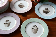 Set of 4 KATIE ALICE Cupcake Couture PORCELAIN SIDE PLATES